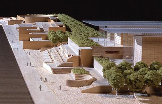 Reconstruction Projects [Model of the Hyogo Prefectural Museum of Art + Kobe Waterfront Plaza]